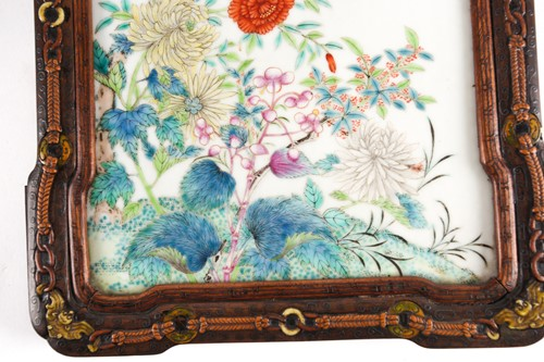 Lot 163 - A Chinese porcelain panel, Qing,19th century,...