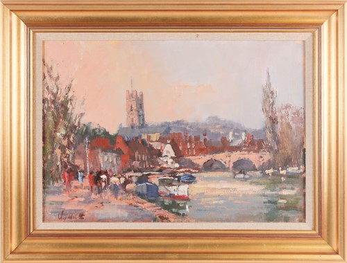 Lot 45 - William Davies (b.1928), 'Henley on Thames',...