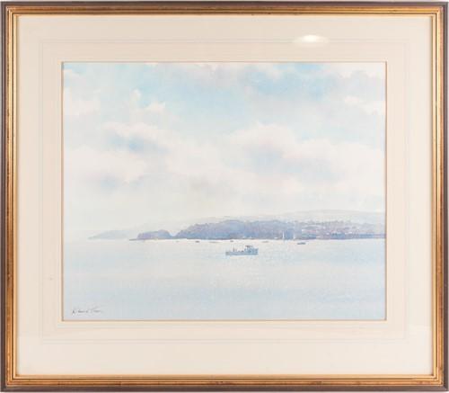 Lot 54 - Richard Thorn (20th century) 'The Estuary',...