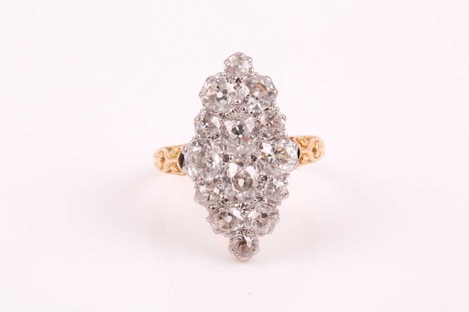 Lot 279 - A yellow metal and old-cut diamond...
