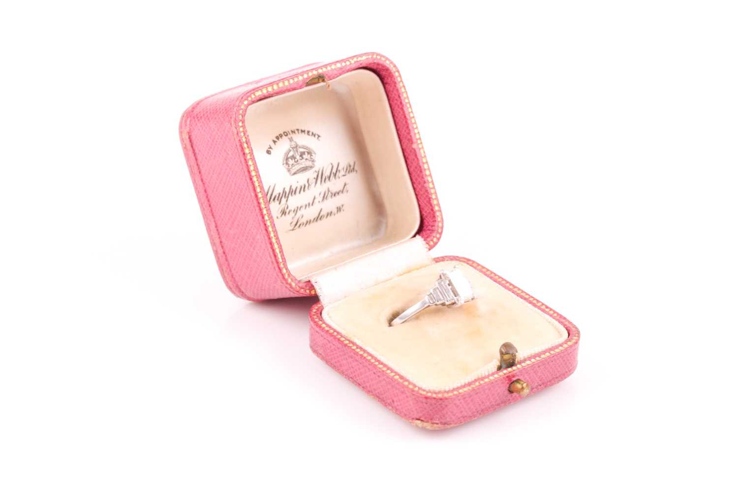 Lot 239 - Mappin & Webb. A platinum and diamond ring in...