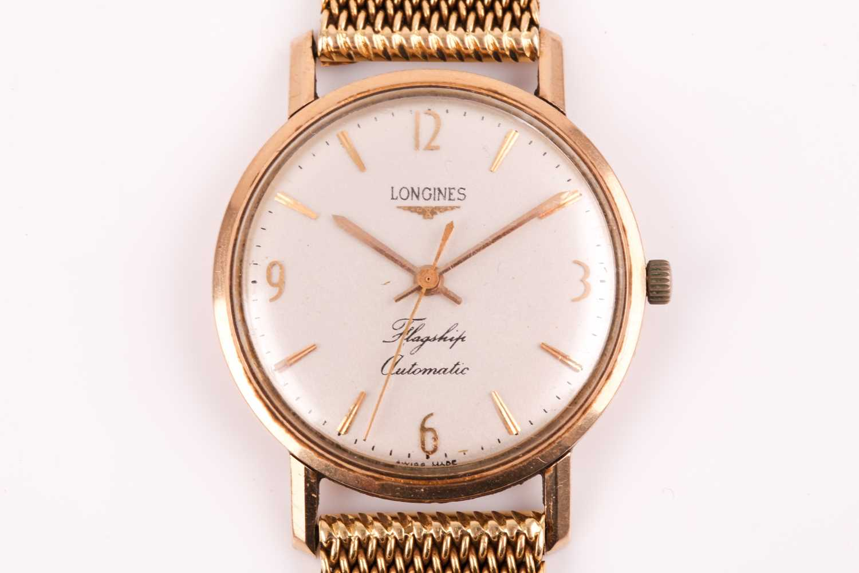 "Lot 613 - A Longines gentleman's gold ""Flagship..."