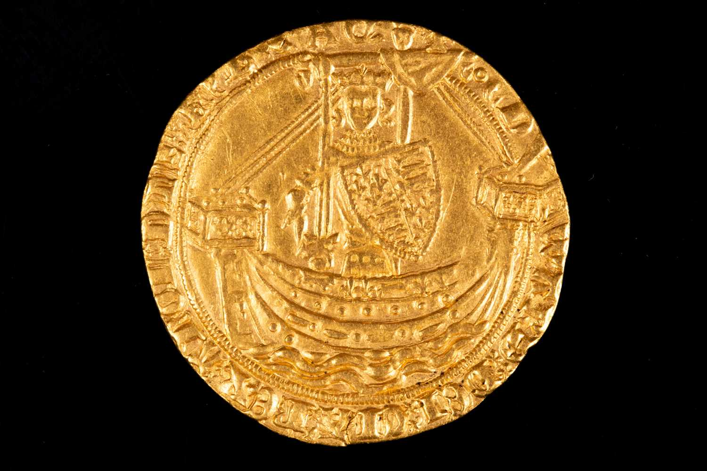 Lot 307 - British coins, Edward III noble, fourth...