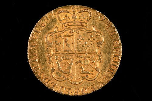 Lot 316 - British coins, George II, Guinea, 1750, old...