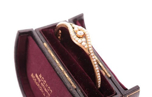 Lot 318 - A late 19th / early 20th century yellow gold,...