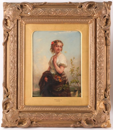 Lot 7 - Josephine Wood Colby (1862-1930), 'Springtime',...