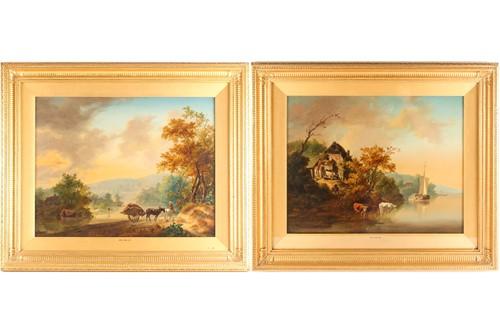 Lot 5 - Jan Van Os (1744-1808) Dutch, pastoral scenes,...