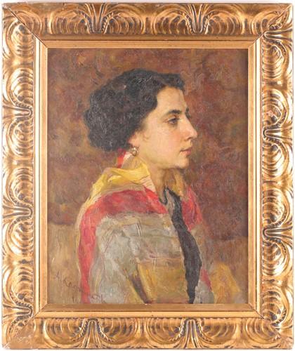 Lot 18 - Alexei Vasilievich Kadnikov (b.1873), portrait...