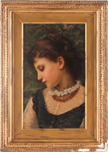 Lot 3 - Angelo Ramognoli, (1850-1896), Portrait of a...