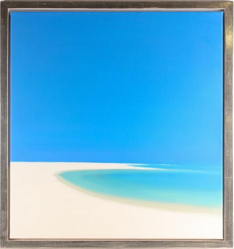 Lot 58 - John Miller (1931-2002), Quiet Beach, oil on...