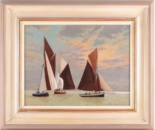 Lot 53 - Anthony Flemming (B. 1936), Calm, Fishing...