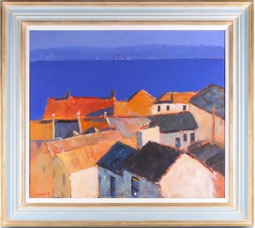 Lot 19 - Alan Furneaux (B. 1953), Falmouth Bay, acrylic...