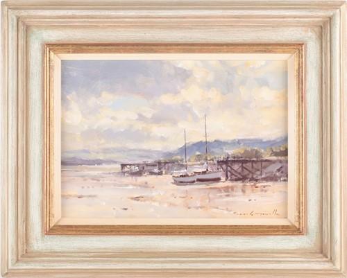 Lot 34 - James Longueville, (B. 1942), Low tide,...