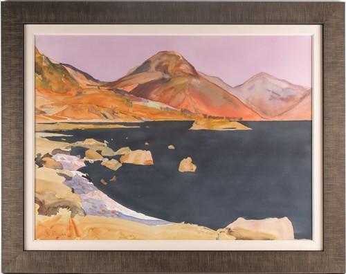 Lot 16 - Bob Rudd, RI (B.1944), West water, watercolour,...