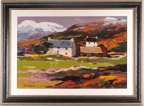 Lot 1 - Donald McIntyre, RCA, (1925-2009), Early snow,...