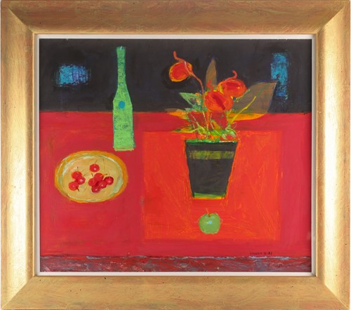 Lot 9 - William Selby, (B. 1933), Green Bottle,...