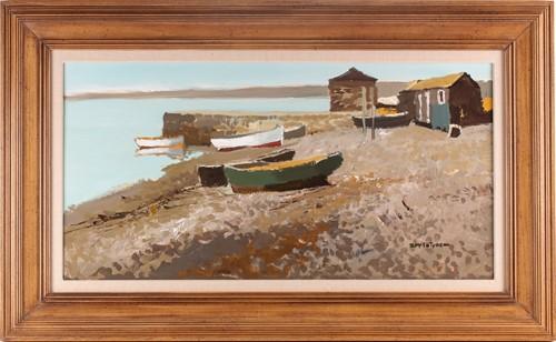 Lot 10 - Donald McIntyre, RCA, (1925-2009), Jetty Boats,...