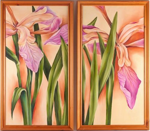 Lot 45 - Alicia Dubnyckyj, Crimson Lake, oil on canvas,...