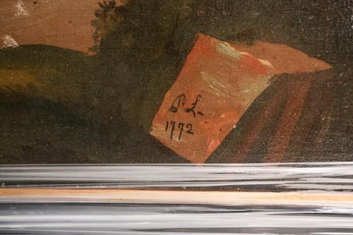 Lot 23 - English Naive School, 18th century, Portrait...