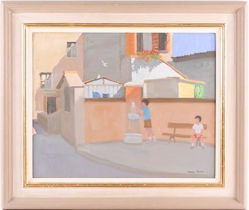 Lot 32 - Andrew T Macara (b.1944), 'Tuscany, June', oil...