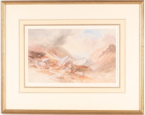Lot 35 - Thomas Lindsay (1793-1861) British, a coastal...