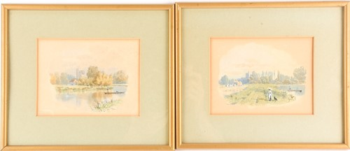 Lot 37 - F.G. Coleridge (1840-1925), 'Cookham from the...