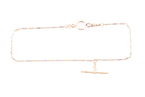 Lot 6 - An 18ct gold and platinum watch chain / choker...