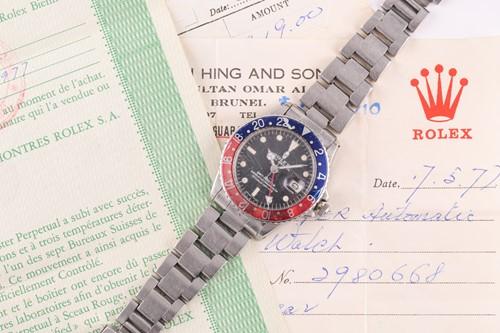 Lot 511 - A 1972 Rolex GMT Master 'Pepsi' ref. 1675...
