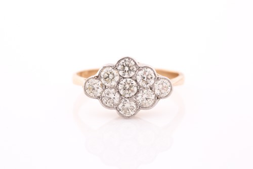Lot 3 - An 18ct yellow gold and diamond ring, set with...