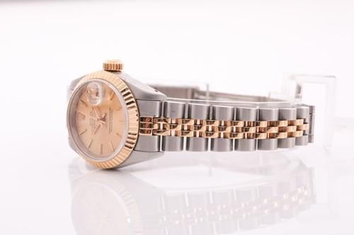 Lot 398 - A 1990 ladies Rolex DateJust Rolesor ref....