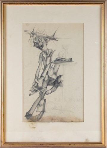 Lot 59-Gerald Scarfe (1936) English depicting a man in a ...