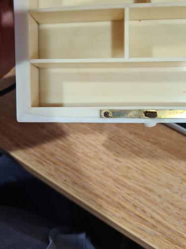 Lot 254 - A good Japanese ivory dressing table set,...