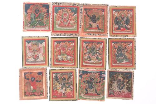 Lot 7 - Tibetan school, 19th century, twelve images of...