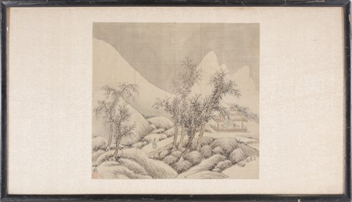 Lot 27 - Chinese school, late Qing, a peasant on a...