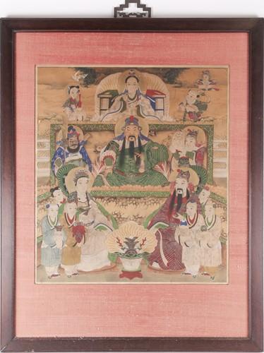 Lot 22 - Chinese school, Qing, 19th century, Guan Yu...