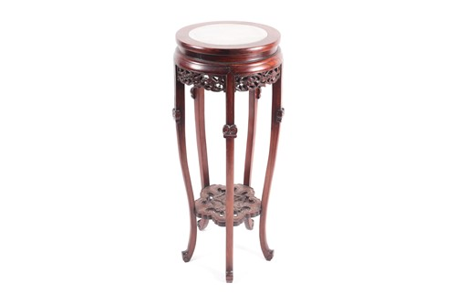 Lot 34 - A Chinese hongmu vase stand, early 20th...