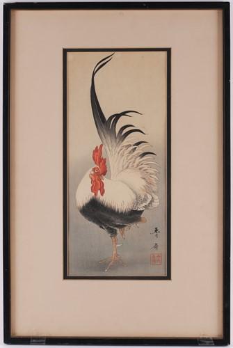Lot 28 - Nakagawa Shurei, Taisho period, standing...