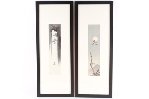 Lot 30 - Gesso Yoshimoto (1881 - 1936), Bird Flying &...