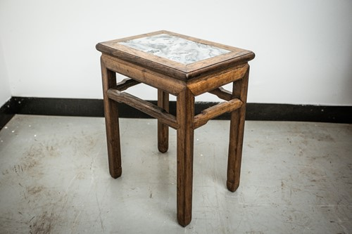 Lot 45 - A Chinese hardwood vase stand, early 20th...