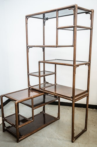 Lot 37 - A Chinese hardwood modular room unit, 20th...
