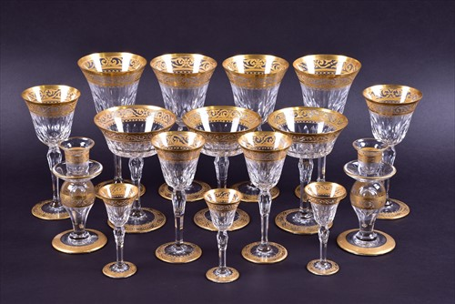 Lot 201 - An extensive 64 piece suite of St. Louis...