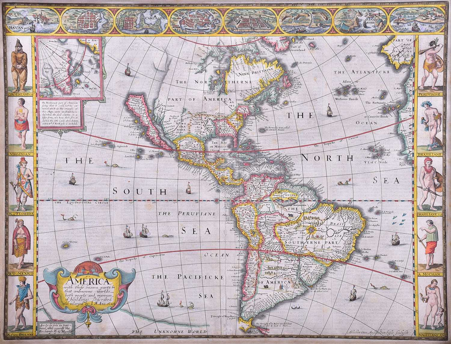 Lot 406 - John Speed (1552-1629), British map of...