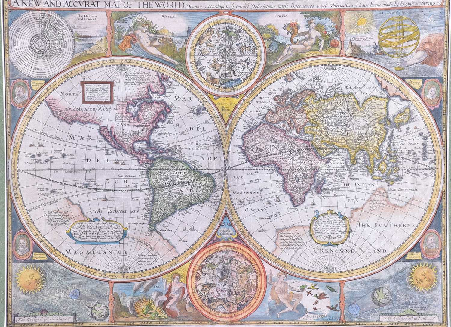 Lot 398 - A 17th century map of the world 'A new and...