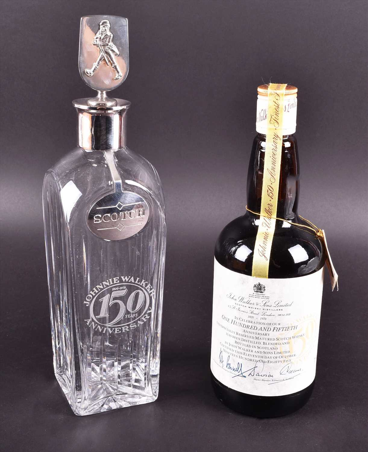 Lot 674 - An 150th anniversary Johnnie Walker set to...