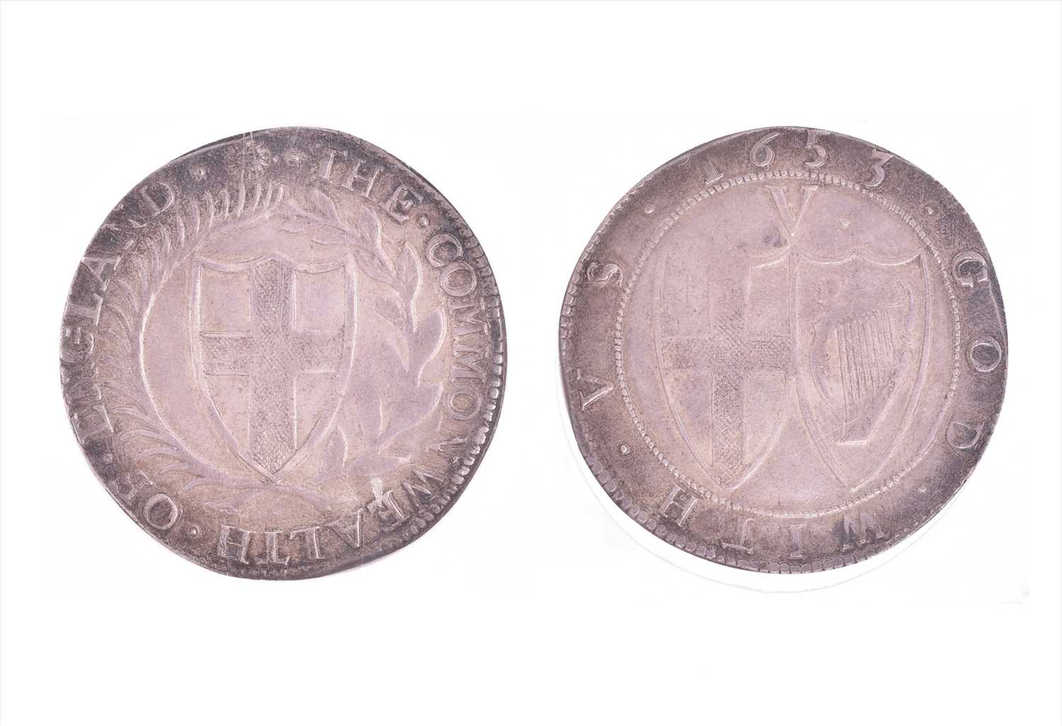 Lot 10 - THE COMMONWEALTH, 1649-60. CROWN, 1653. mm....