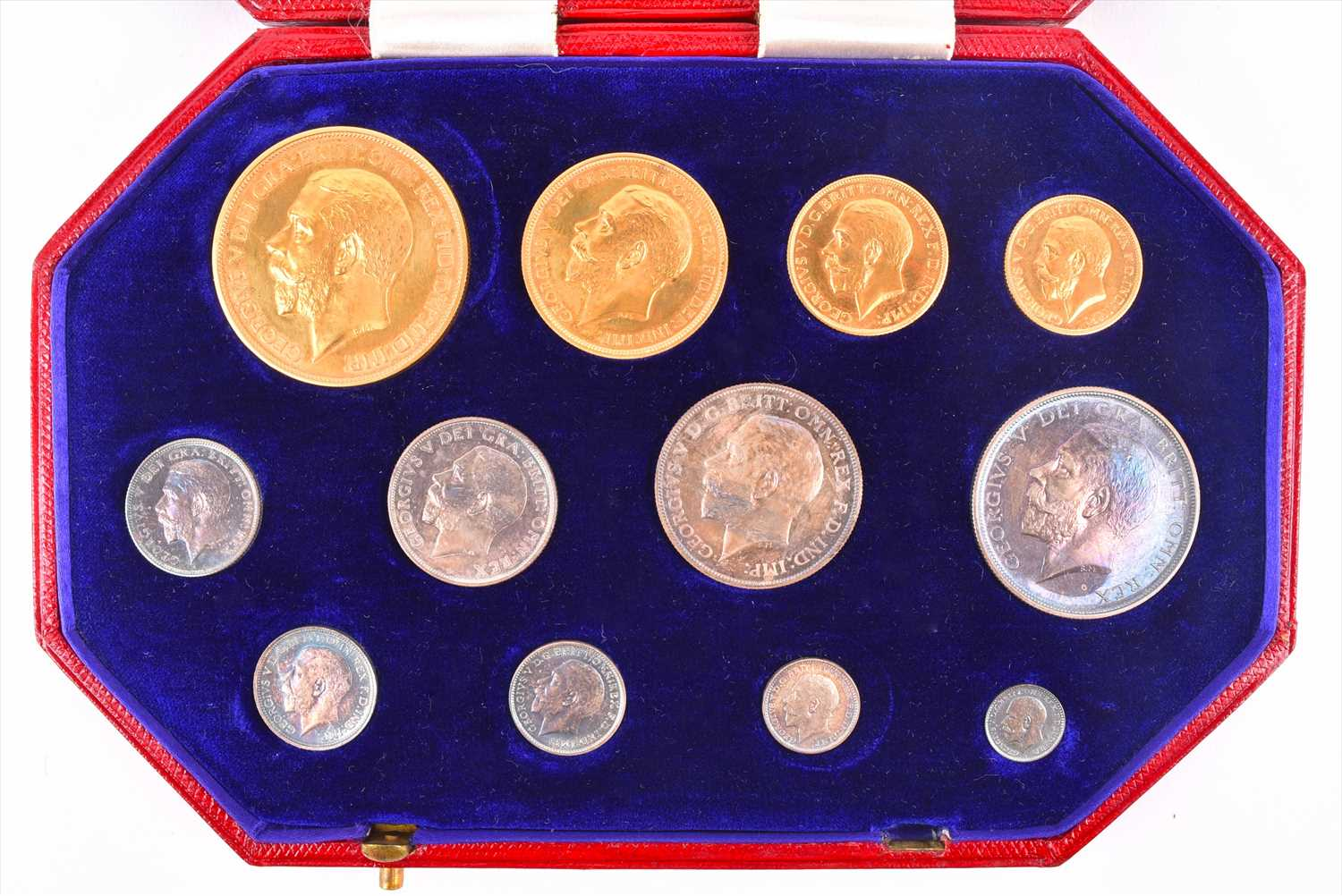 Lot 102-GEORGE V, 1910-36. PROOF SET OF TWELVE COINS,...