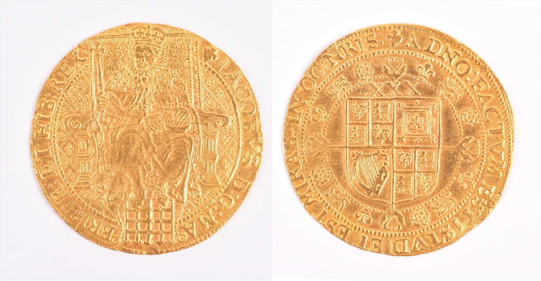 Lot 7 - JAMES I, 1603-25. ROSE-RYAL OF 30 SHILLINGS...